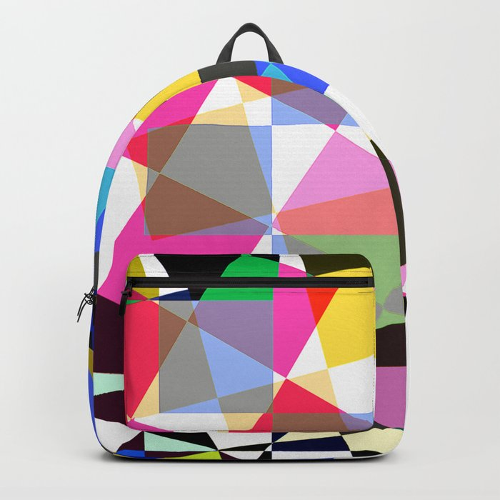 geometric sparkling colors. Backpack