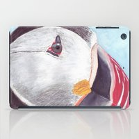 puffin iPad Cases featuring Puffin by Art by Frydendal