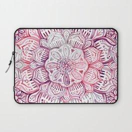 Burgundy Blush Watercolor Mandala Laptop Sleeve