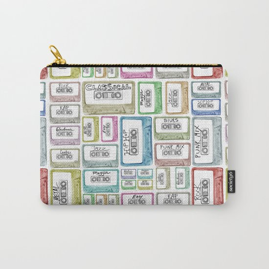 Tape Mix 2 Vintage Cassette Music Collection Carry-All Pouch