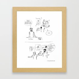 Not a philosopher of religion Framed Art Print