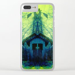 Spooky Shed Clear iPhone Case
