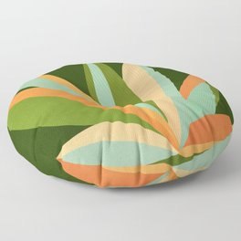 Colorful Agave / Painted Cactus Illustration Floor Pillow