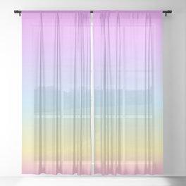 Dreamy Pastel Gradient Sheer Curtain