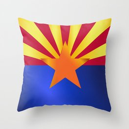 Arizona State Flag Gloss Throw Pillow