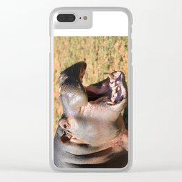 Hungry Hippo Clear iPhone Case