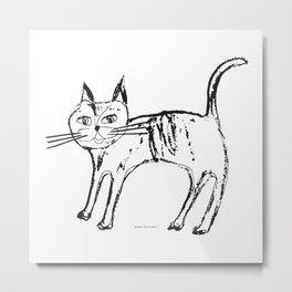 Little cat pattern Metal Print