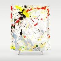 splatter Shower Curtains featuring Paint Splatter  by Gravityx9