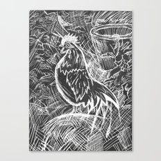 Chicken Scratch Canvas Print