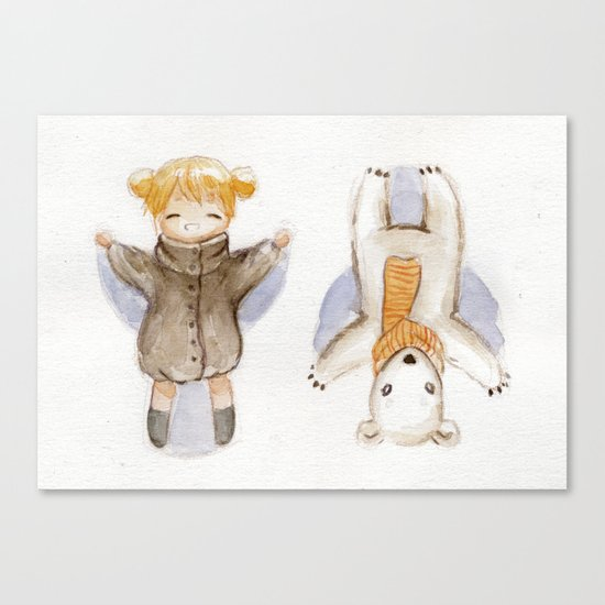 Snow Angels Canvas Print