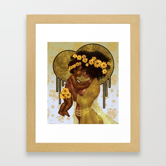 My Light, My [Sun]flower Framed Art Print