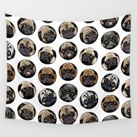 dot Wall Tapestries featuring Pugka Dot by Huebucket