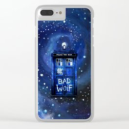 Tardis Starry Night Clear iPhone Case