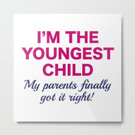Youngest Child Metal Print