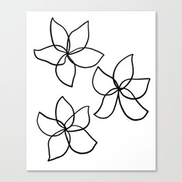 Plumeria Frangipani Tropical Flowers Summer Floral Pattern Canvas Print