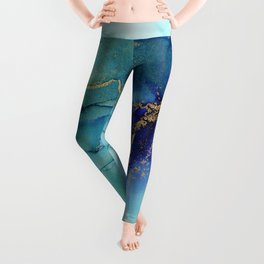 Electric Waves Violet Turquoise - Part 2 Leggings
