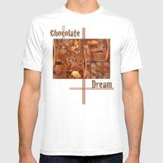 Chocolate Dream MEDIUM Mens Fitted Tee White