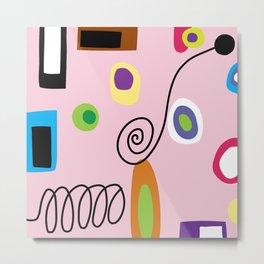 Mod Abstract Pink Metal Print
