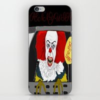 pennywise iPhone & iPod Skins featuring Pennywise AKA The Clown by ItalianRicanArt