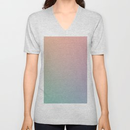 HOLOGRAPHIC - Minimal Plain Soft Mood Color Blend Prints Unisex V-Neck