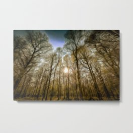The Forest Sunset Art Metal Print
