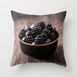 food photography, a bowl of berries. tasty photo Throw Pillow