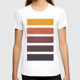 Colorful Brown Geometric Pattern T-shirt