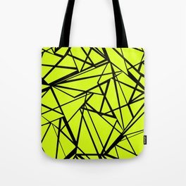 An abstract geometric pattern . Yellow green pattern . Tote Bag