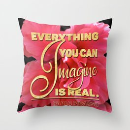 Everything You can Imagine – Pink Lilly Throw Pillow