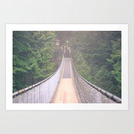Capilano Bridge Art Print