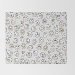 HEDGEHOG PATTERN BEIGE Throw Blanket