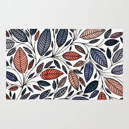 Floral Leaf Illustration *P05014 Rug