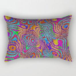 Psychedelic Rainbow Glitter Bomb Rectangular Pillow