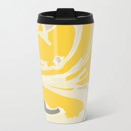 Paint - yellow swirl Travel Mug
