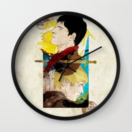 The King and His Sorceror Wall Clock