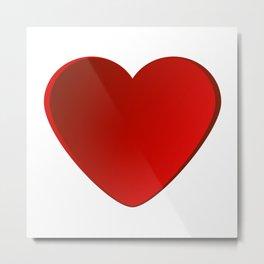 Heart in beautiful design Fashion Modern Style Metal Print