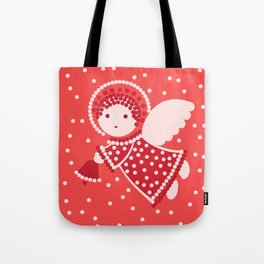 Angels on the red Tote Bag