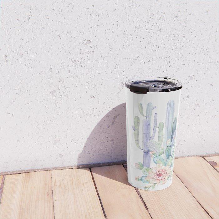 Mixed Cacti 2 #society6 #buyart Travel Mug