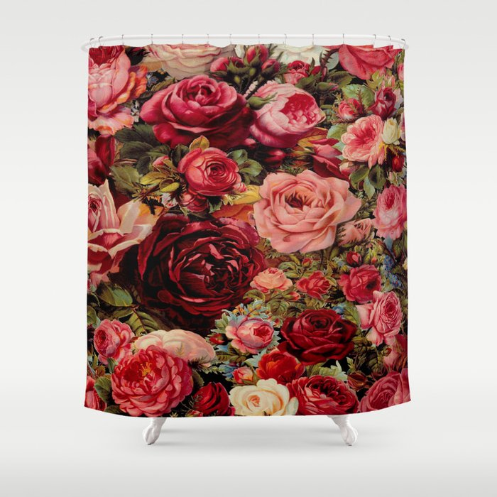Vintage Roses Shower Curtain By Suzannecarter