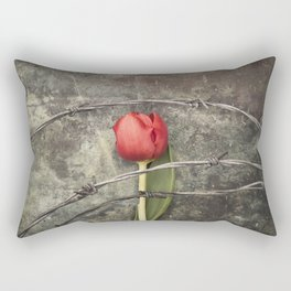 Tulip and barbed wire Rectangular Pillow