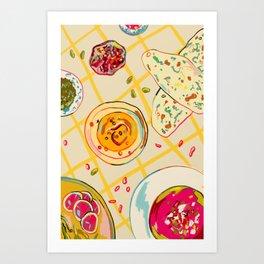LEBANESE DINNER STILL LIFE Art Print