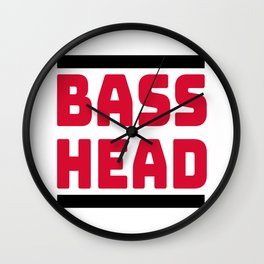 Bass Head, for Drum and bass Djs. Wall Clock