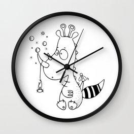 Le rhinodino Wall Clock