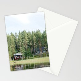 Cabin by the lake in Finland Stationery Cards