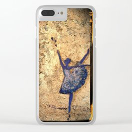Blue Dance by SK Clear iPhone Case
