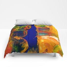 Sunset Deep Blue Marine Sea Oil Painting Comforters