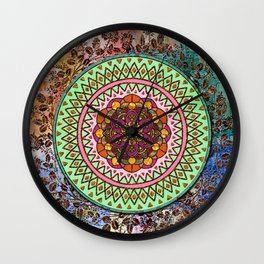 Circle of Flowers Wall Clock