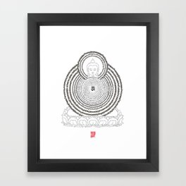 Prajanana Paramita - The Heart Sutra Framed Art Print