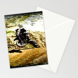 Dirt-bike Racer Stationery Cards