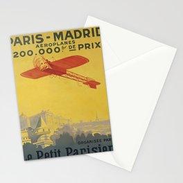 Werbeplakat Paris-Madrid voyage poster Stationery Cards